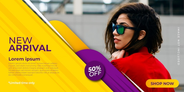 New arrival promotion banner template