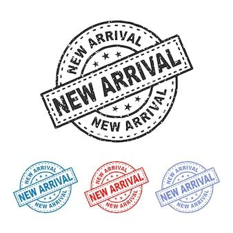 새로운 도착 고무 스탬프 새로운 도착 스탬프 인감 새로운 도착 빈티지 고무 스탬프