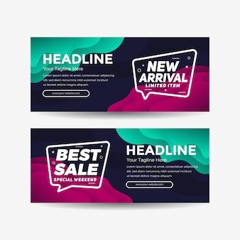 New arrival sale banner abstract background