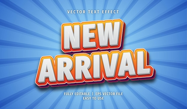 New arrival text effect, editable text style Premium Vector