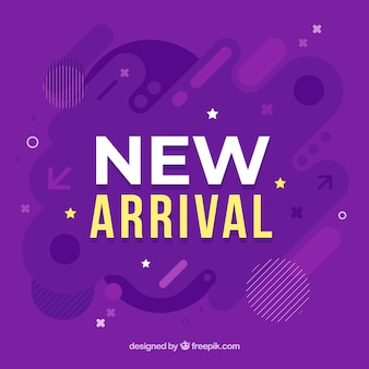 New arrival typography background
