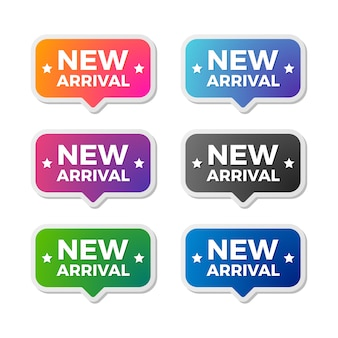 New arrival vector badge