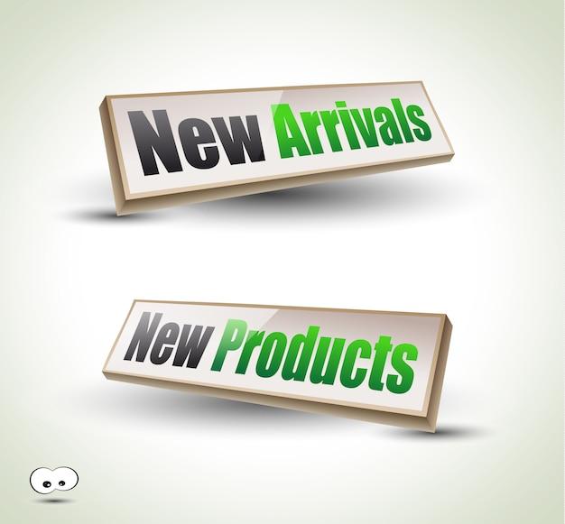 New arrivals box panel 3d