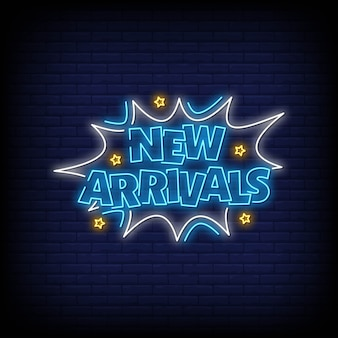 New arrivals neon sign