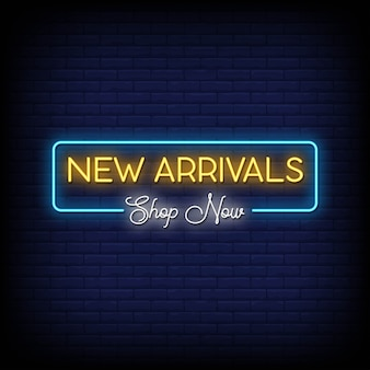 New arrivals neon signs style text