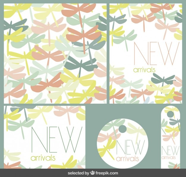 New arrivals stationery with dragonflies