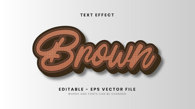 New brown color style font effect
