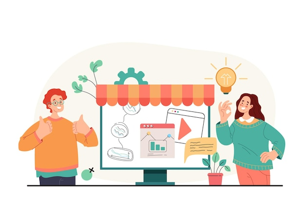 New business start up entrepreneur people team planning
