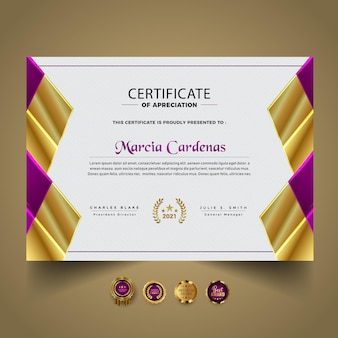 New certificate diploma template