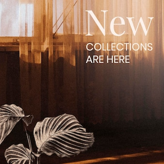 New collection announcement for marketing