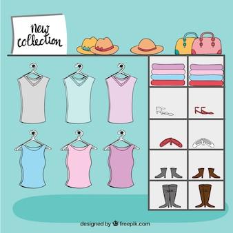 새로운 컬렉션 옷장