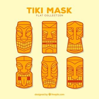 Новая коллекция желтых тики-масок