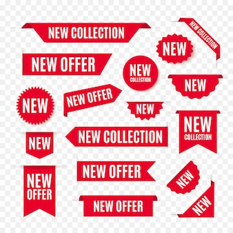New collection offer tags and labels
