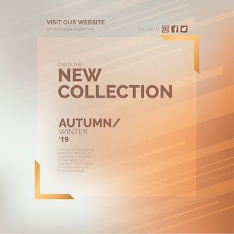 New collection promotion banner for fashion store