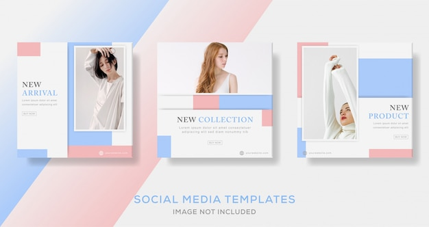 New collection sale social media post templates
