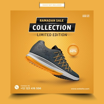 New collection shoes sale social media post design