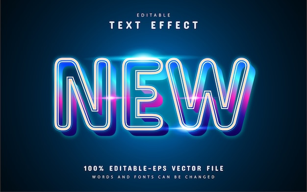 New colorful glowing line text effect