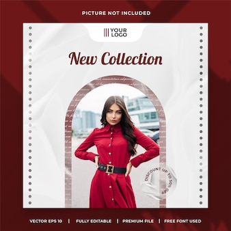 New fashion collection social media post template