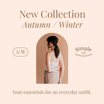 New fashion collection template for social media post