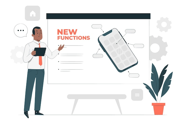 New functions concept illustration