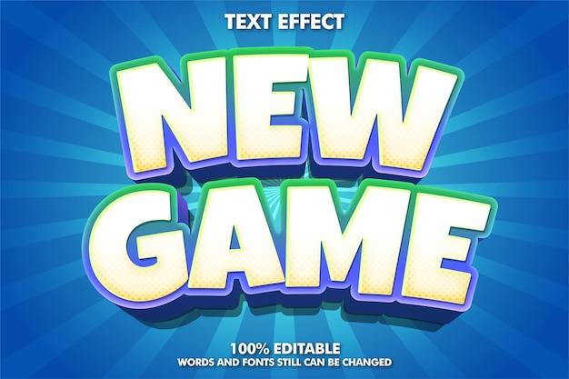 新しいゲームステッカーゲームスタイルのテキスト効果
