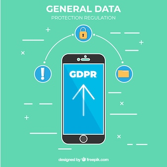 New gdpr concept with smartphone
