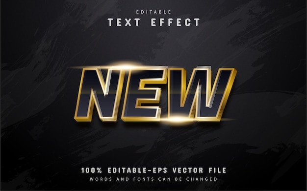 New gold text effect