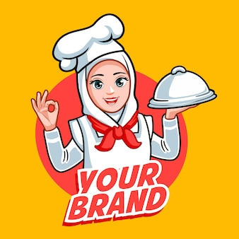 New hijab chef woman beautiful chef