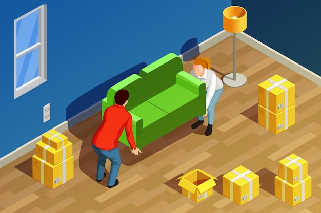 New home isometric composition
