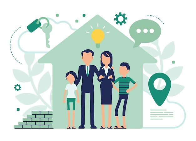 家族のための新しい家