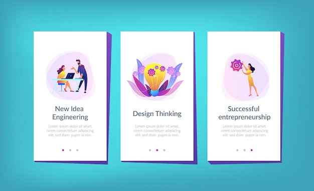 New idea engineering app interface template