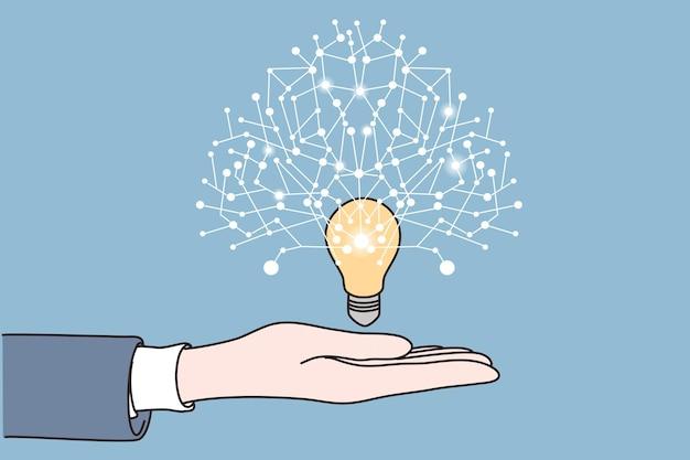 새로운 아이디어 시작 혁신 개념