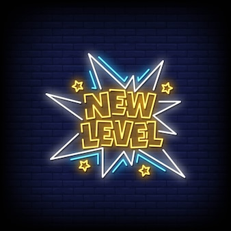 New level neon signs style text