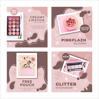 New make-up products instagram posts template