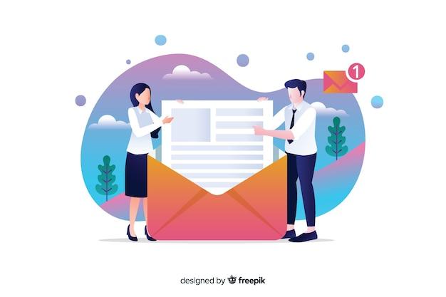 방문 페이지에 대한 새로운 메시지 개념