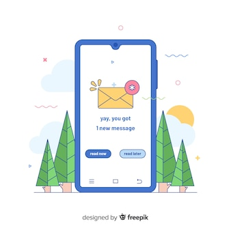 New message concept for landing page