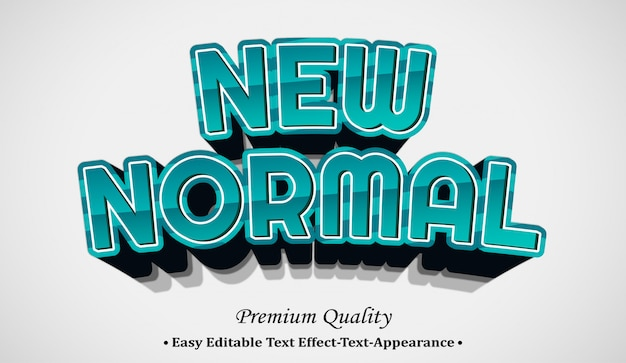 New normal 3d font style effect