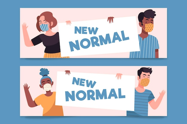 New normal banners template illustrated