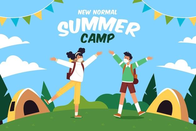 여름 캠프의 새로운 표준 무료 벡터