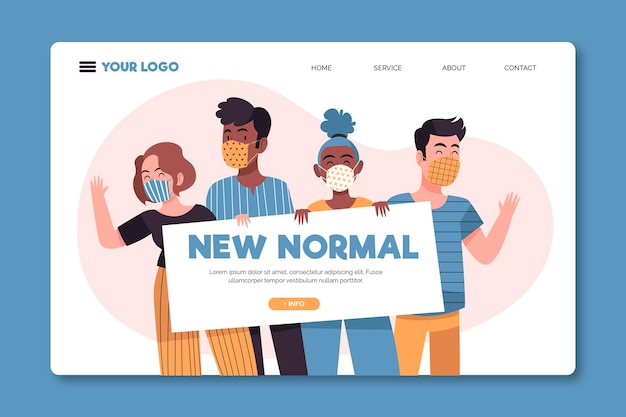 New normal landing page template illustrated
