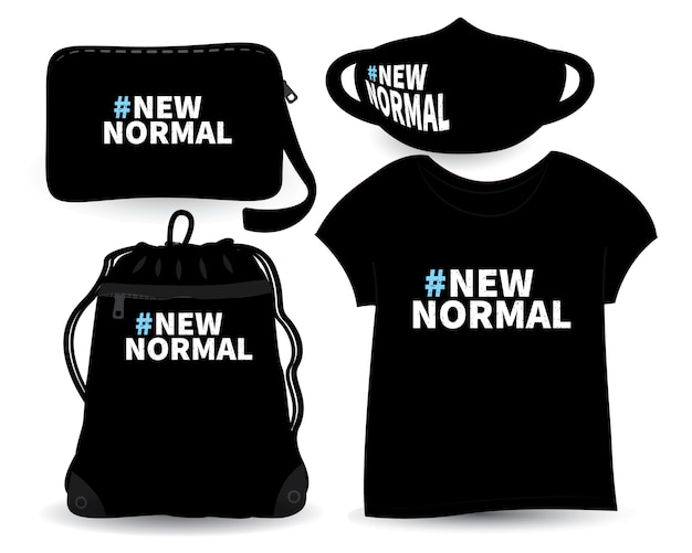 New normal lettering design for t shirt and merchandising