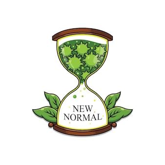新しい通常のロゴデザイン