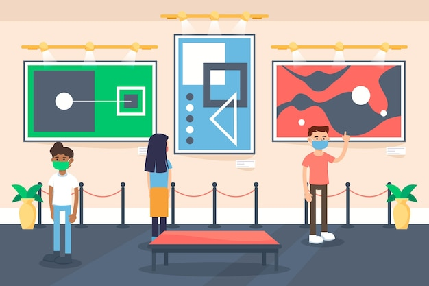 New normal in museums concept