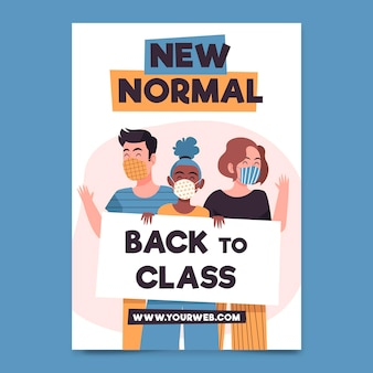New normal poster template illustrated