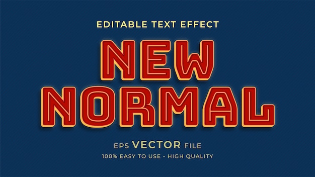 New normal retro style editable text effect concept