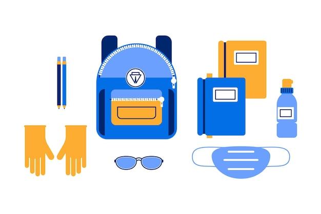 New normal school supplies set
