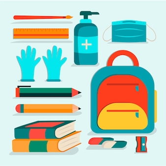 Новые обычные школьные принадлежности