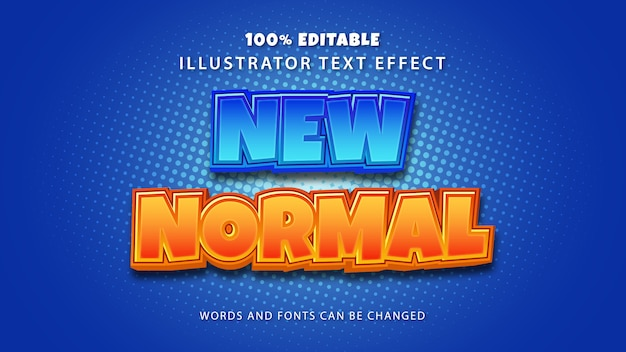 New normal text style effect, editable text