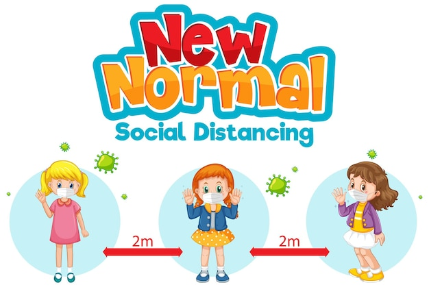 New normal with children keep social distancing