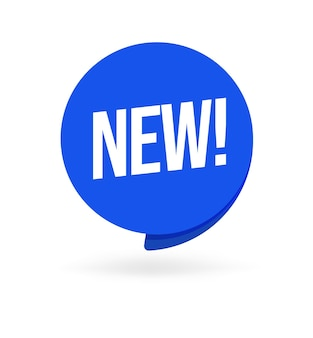 新しいオファー、製品、品質、またはサービスの丸いステッカータグ